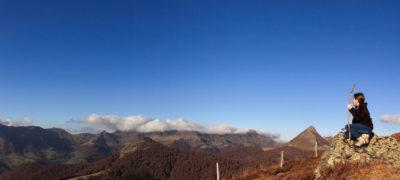 Randonnée en automne sur le Gr Puy Griou Cantal