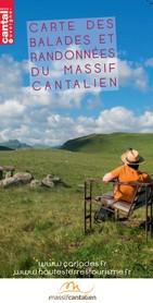 carte de radonnées dans le Cantal - Massif Cantalien