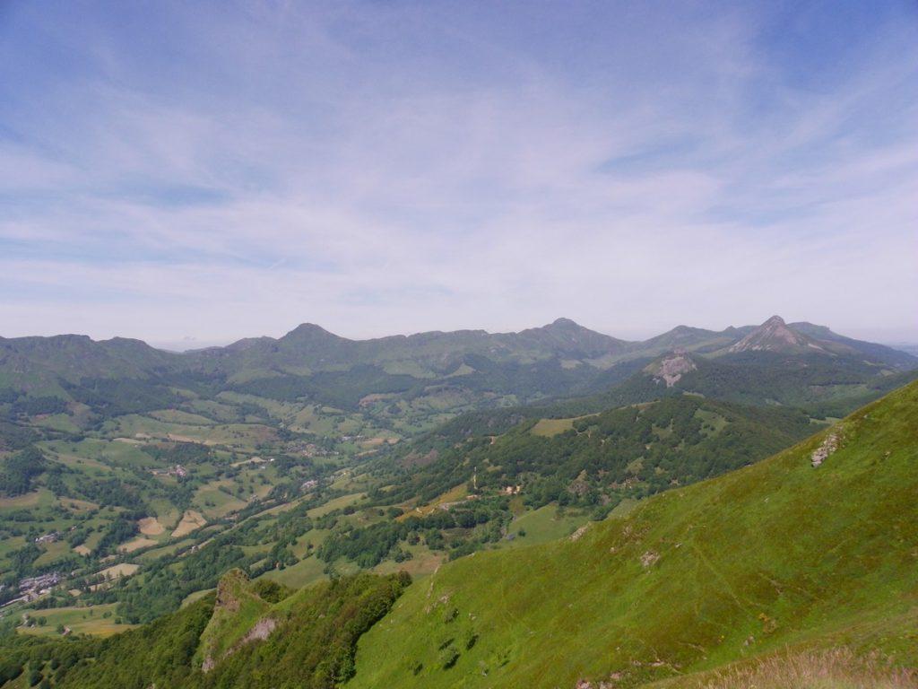 Vue depuis l'Elancèze à Thiézac - Auvergne