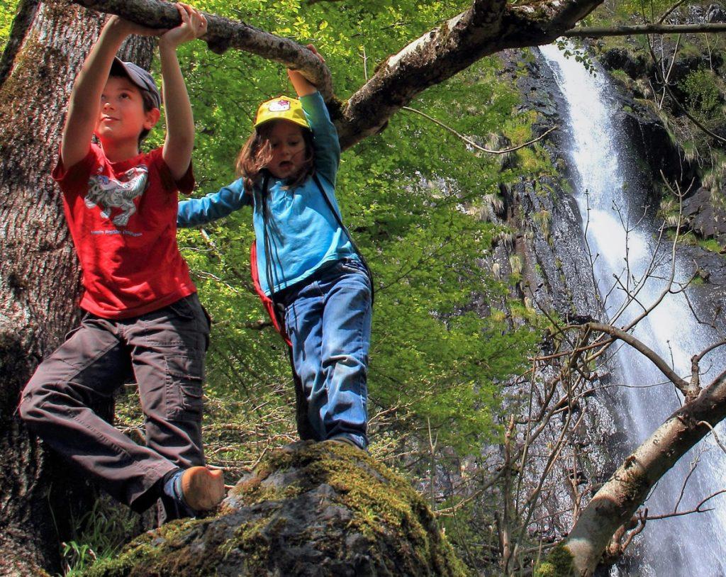 Cascade de Faillitoux cantal Auvergne Balade en famille