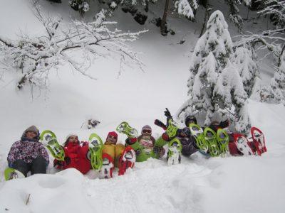 Balade en raquettes pour les familles en Auvergne