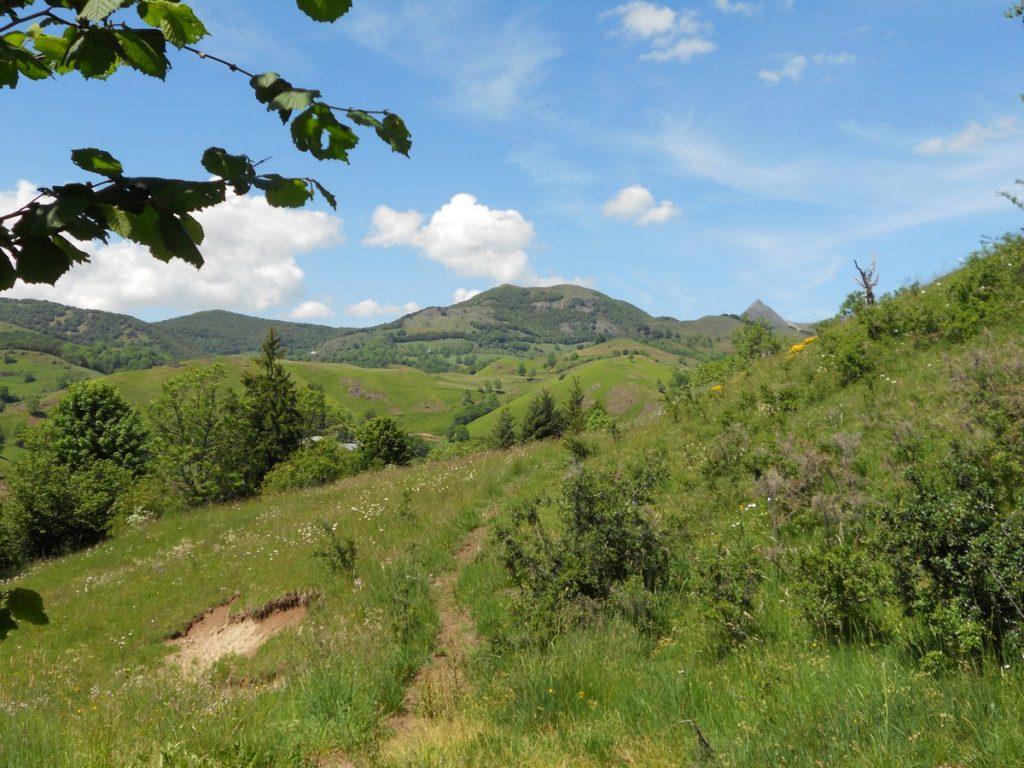 vallée de la cere thiezac auvergne cantal sentier de randonnée
