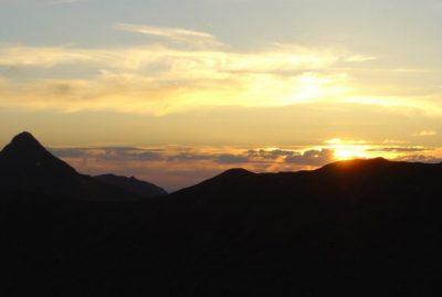 Coucher de Soleil sur le Massif cantalien