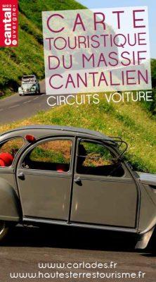 carte touristique du massif cantalien cantal auvergne
