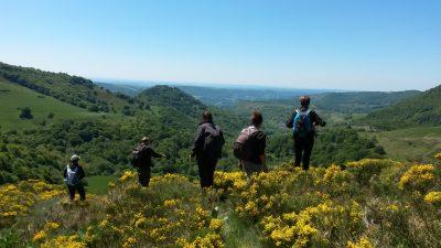 Randonnée accompagnée à Thiézac en Auvergne