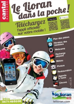 Le Lioran Cantal Auvergne neige ski application mobile