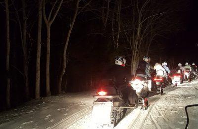 Balade en motoneige au Lioran dans le Cantal