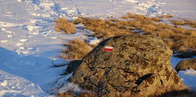 Gr400 balisage sous la neige Cantal