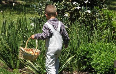 chasse aux oeufs de pâques dans le carladès cantal
