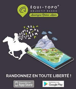 equitopo-appli mobile rando équestre Cantal Auvergne