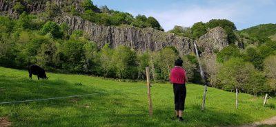 cascade faillitoux au printemps dans le Cantal